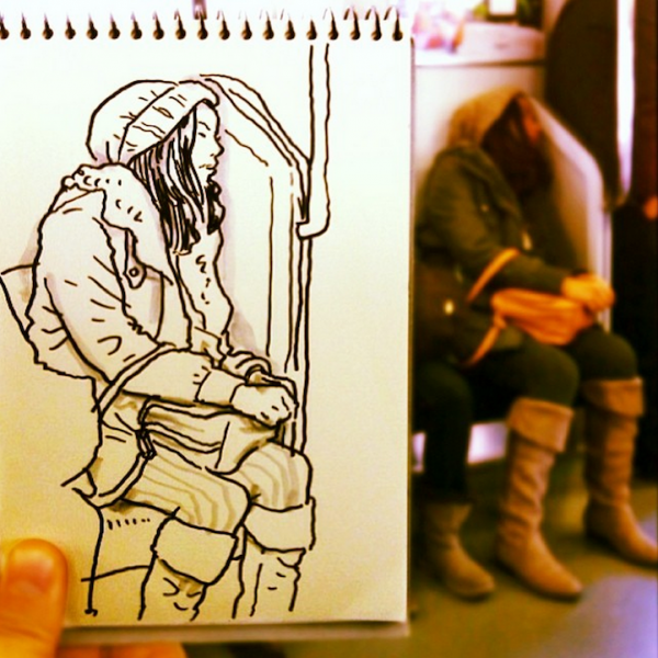 Artist-Turns-Everyday-Scenes-Into-Fun-Cartoon-Sketches-1-600x600