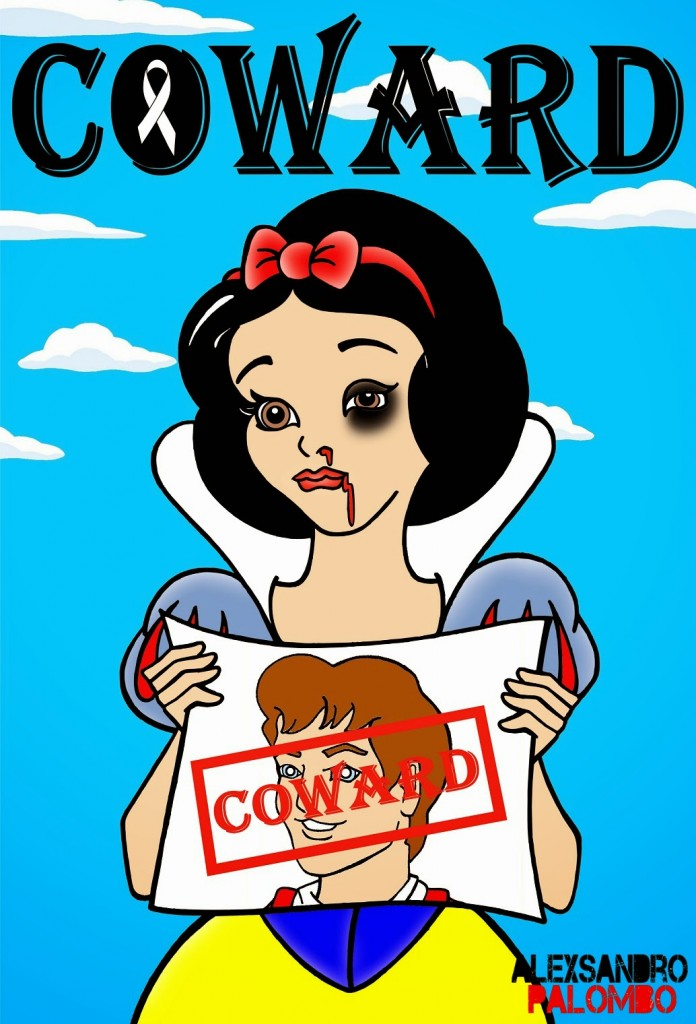 Disney Princess Snow White COWARD No Violence Against Women by aleXsandro Palombo Web